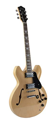 Firefly Ff338 Hollowbody Guitar Natural Musical